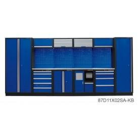 Zestaw mebli warsztatowych KING TONY 87D11X02SA-KB - niebieski
